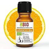Olio essenziale Arancio dolce Bio 100% puro e naturale 10 ml - Diffusore Vaporizzatore Umidificatore ambiente Aromaterapia - Uso interno alimentare - Cosmetica e massaggi - Laborbio