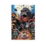 HZHI King Kong Retro-Poster, dekoratives Gemälde,