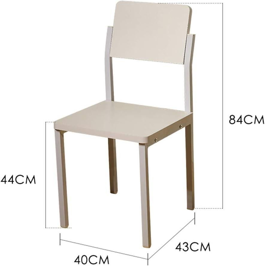 PRIDE S Chaise de Salle à Manger, Chaise de Bureau, Dossier créatif, Chaise de Loisirs, Chaise de Salle à Manger pour Adulte, Chaise de Maison 5 Blancs.