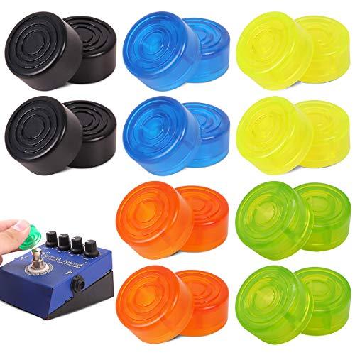 Qixuer 20 Stück Gitarre Effektpedal Fußschalter Topper Elektrische Gitarrenfußnagel Schutzkappe Bunt Kunststoff Fußnagelkappe Footswitch Kappe für Musikinstrumente