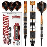 RED DRAGON Amberjack 1 Soft Tip Dartpfeile 18g – 90% Tungsten Darts Set mit Flights & Schäfte