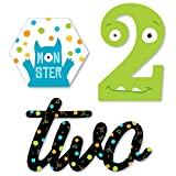 2nd Birthday Monster Bash - DIY Shaped Little Monster Second Birthday Party Cut-Outs - 24 Count
