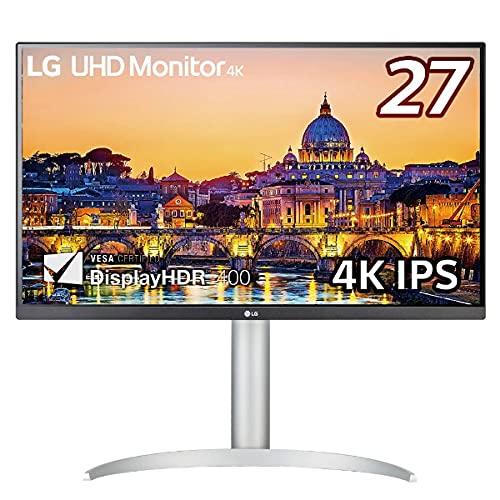 LG モニター ディスプレイ 27UP650-W 27インチ/4K/IPS非光沢/DCI-P3 95%/DisplayHDR400/FreeSync/HDMI×2、DisplayPort/高さ調節、ピボット対応