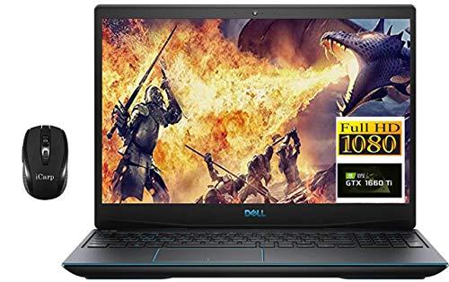 Premium Dell G3 15 3590 Gaming Laptop, 15.6' 1080p FHD 9th Gen Intel Quad-Core i5-9300H ( i7-7700HQ) 16GB DDR4 512GB PCIe SSD 1TB HDD 6GB GTX 1660Ti Max-Q Backlit Win 10 + iCarp Wireless Mouse