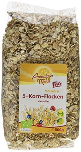 Antersdorfer Mühle 5-Korn-Flocken, 10er Pack (10 x 500 g) - Bio