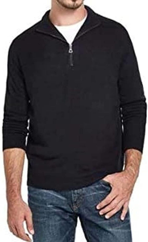 Weatherproof Vintage Men's Quarter Zip Pullover Black/Small