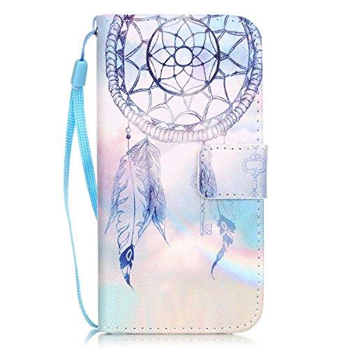 Amlope Custodia per iPhone 8 / iPhone 7 / iPhone SE 4.7' 2020, 3D Modello Flip Cover Portafoglio Silicone Protettiva Caso con Cinghia e Porta Carte Chiusura Magnetica Protezione Case, Acchiappasogni