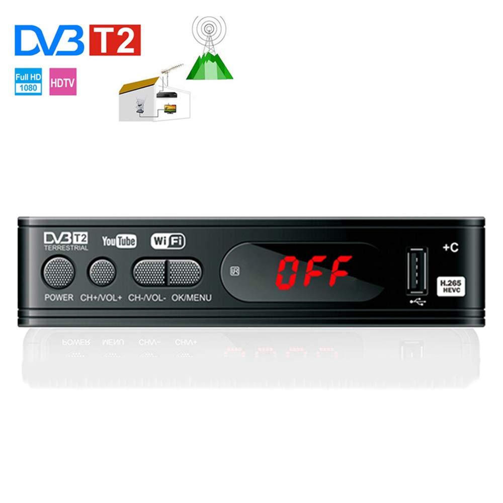 TDT HD Digital TV del sintonizador del Receptor Set Top de Viejos y nuevos televisores Digitales de TV del Receptor WiFi Receptor DVB-C DVBT2 Set-Top Box H.265 HEVC AC3 HD DVB-C Tuner: