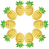 Cieovo 24 Count Disposable Plates Bronzing Pineapple Party Paper Plates Dinner Dessert for...