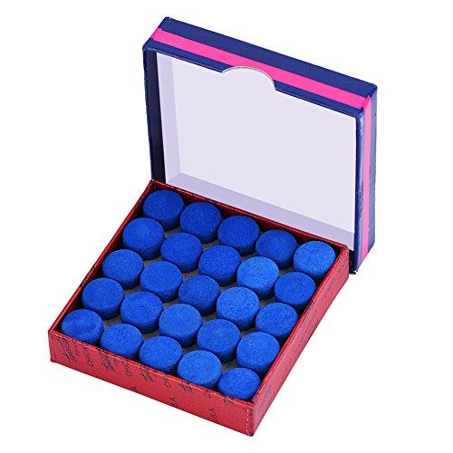 Alomejor Billard Keu, 50 stuks, leer, aanschroeven, pool, billard, vervangtips met opbergdoos voor zwembad, keu en snooker, blauw, 9 mm, 13 mm, 10 mm, naar keuze