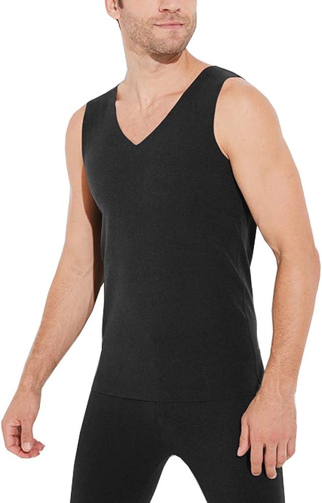 Arlita Men's V-Neck Thermal Vest Underwear Sleeveless Tank Top Vest T-Shirt