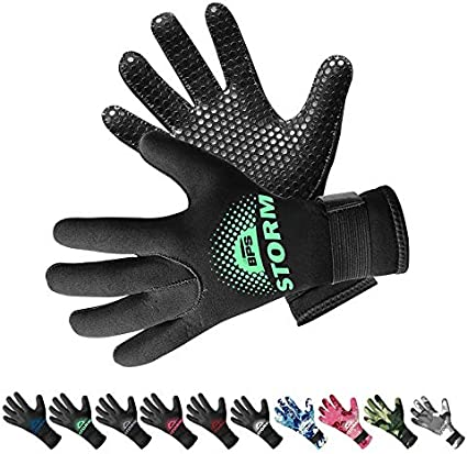 Kayaking for Diving Surfing and Other Water Sports Snorkeling Choose from 6 Sizes BPS 3mm /& 5mm Double-Lined Neoprene Wetsuit Gloves