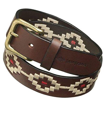 Pampeano ceinture de Polo en cuir principe Brun 34