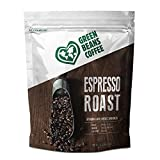 Green Beans Coffee Espresso Medium Dark Roast, Whole Bean, 5 Pound Bulk Bag