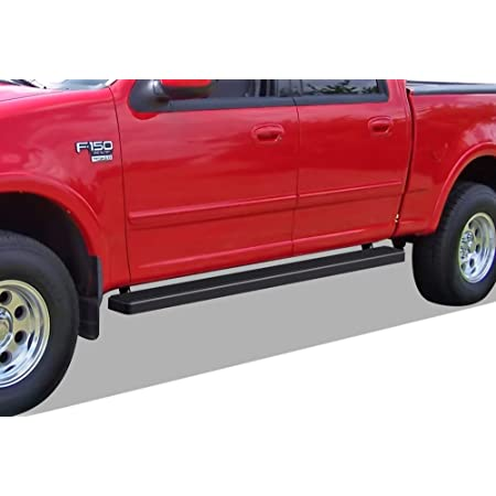 BETTER AUTOMOTIVE Side Steps Compatible with 2001-2003 Ford F150 2004 F150 Heritage SuperCrew CAB 4 Door 3 Round SIDEBAR Black Side Bar Step Nerf Bars Running Boards