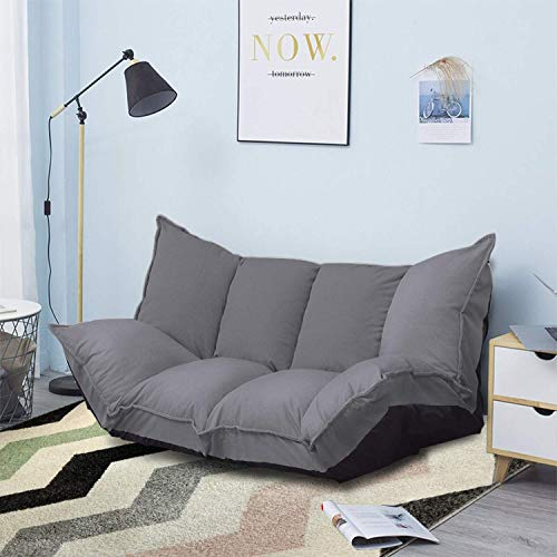 JERRY & MAGGIE - Lazy Sofa Cute Futons Sets Comfortable Adjustable Sofa TV Floor Couch Folding Sleeping Sofa Bed Entertainment | UTRA Grey
