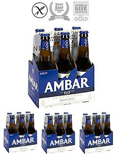 Confez. 24 AMBAR birra analcolica 0,0% alcol senza glutine 33 cl