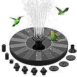 Solar Bird Bath Fountain - Aekegrep 1.4W Solar Fountain pump with 10 Nozzle, 4 Fixer, Free Standing Floating Solar Powered Water Fountain Pump for Bird Bath, Pond, Pool, Fish Tank, Aquarium, Garden