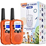 Funkprofi Walkie Talkies for Kids, 3 KMs Long Range 22 Channels Two Way Radios for Boys and Girls, Walky Talky for Age 3-12 Years Old Kids, Outside Play Toys for Hiking Camping (Orange)