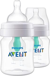 Philips Avent Anti-Colic Baby Bottle with AirFree Vent 4oz, 2pk, SCF400/24