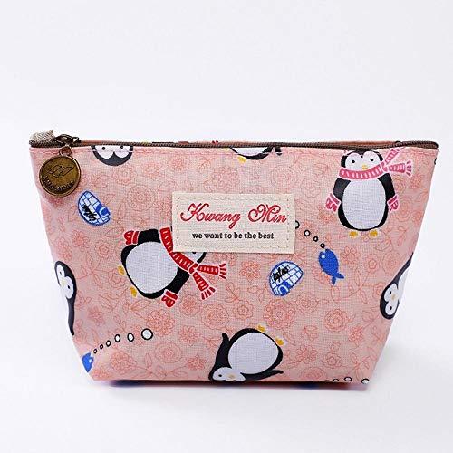 Cosmetic Bag Women Waterproof Toiletry Organizer Zipper Pouch Cosmetic Case-Pink_S_s