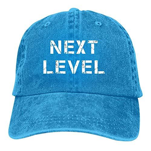 Ialv Wang Next Level Unisex Baseball Caps Adjustable Cowboys Hat Dad-Hat Jungen und Mädchen Mode Gr. Einheitsgröße, blau