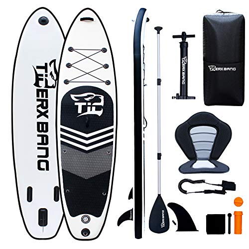 TIGERXBANG SUP Board Inflatable Stand Up Paddle Board 10'6' 320x80x15cm...