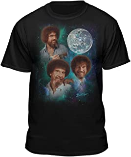 Bob Ross The Joy of Painting Officially Licensed Moon T-Shirt