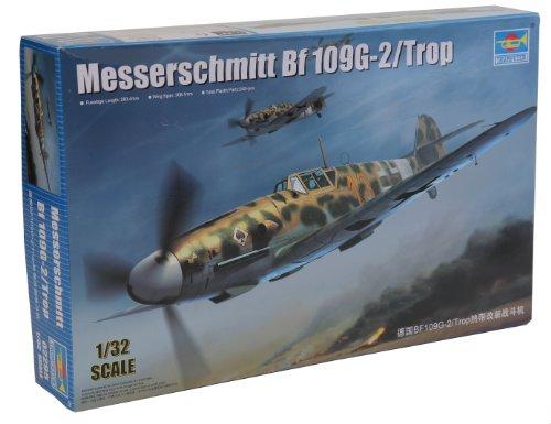 Trumpeter 02295 - Modellino Aereo Messerschmitt BF 109G-2/Trop, Scala 1:32