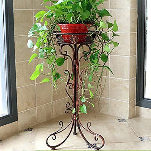 YXZQ Einfacher Blumenständer aus Schmiedeeisen, Sukkulenter Stand, Pflanzenregal im Freien Abnehmbarer Gartengarten im Innenbereich Balkon Gartenregal Blumenständer Büroecke Wohnkultur