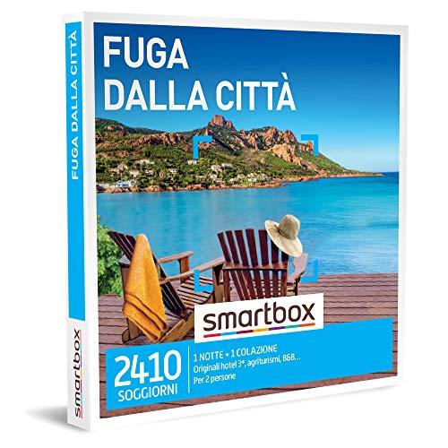 Smartbox - Fuga dalla Città Cofanetto - Regalo Coppia, 1 Notte con Colazione per 2 Persone, Idee Regalo Originale