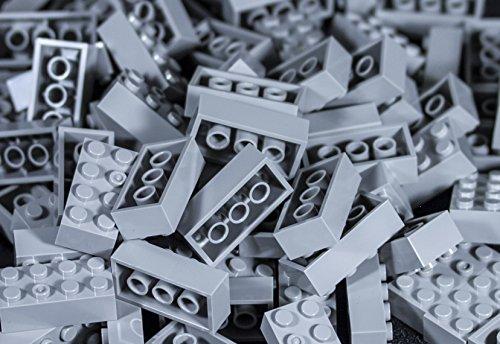 Imex 2x4 Stud Light Grey Compatible Bricks, 100pc