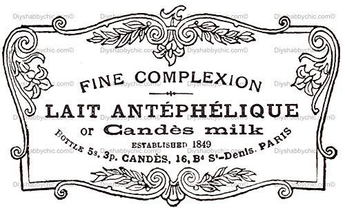 Möbel-Holz-Aufkleber, Bild Transfer Vintage Antik Etiketten Milk Label DIY