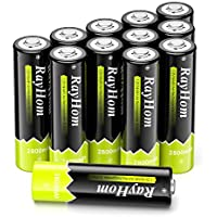 12-Pack RayHom AA Rechargeable Batteries 2800mah Battery
