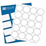2 Inch Round Labels - Permanent, White Matte - Candle, Lid, Product, Favor Labels - Pack of 2,000 Circle Stickers, 100 Sheets - Inkjet/Laser Printers - Online Labels