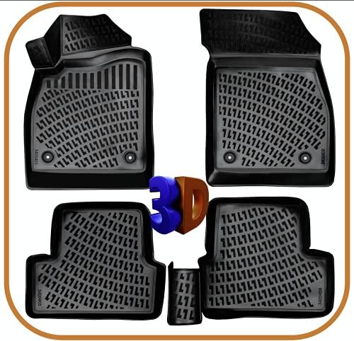 Trimak Alfombrillas de coche compatibles con Opel Astra G & H (1998 – 2010), alfombrillas de goma 3D