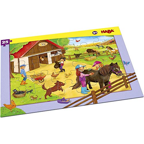 HABA 304654 Rahmenpuzzle Pferdehof