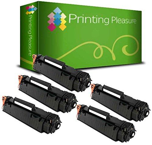 Printing Pleasure 2 Compatibles CE278A 78A Cartuchos de tóner para HP Laserjet Pro M1536 MFP M1536DNF P1560 P1566 P1600 P1606 P1606DN - Negro, Alta Capacidad