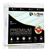 Eco Home USA Premium Mattress Pad Protector - Waterproof & Hypoallergenic Cover - Vinyl Free, Terry Cotton Topper (Twin)