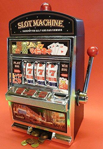 WIM-SHOP SLOTMACHINE Geld-Spielautomat in Maxi-Größe mit realistischer Funktion