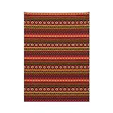 ABAKUHAUS Azteca Tapiz de Pared y Cubrecama Suave, Los Motivos Peruanos Vintage, Lavable Colores...