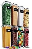 Chef's Path - Juego de recipientes herméticos para almacenamiento de alimentos, 8 unidades, organización de cocina y despensa, recipientes de plástico con tapas duraderas ideales para cereales