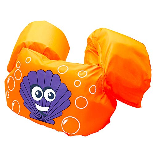 HongShan Arm Bands Puddle Jumper, Kids Life Vest Toddler Swimming Aids, Float Discs, for 2-8 Year Old, 10-25kg, Swim Training Aids, Non-Inflatable Arm Floats for Learning to Swim