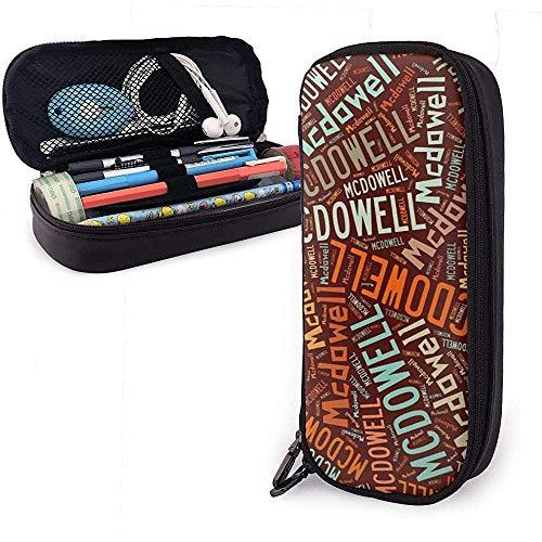 Mcdowell - Estuche de lápices de cuero de gran capacidad de