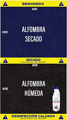 Cibol Alfombra desinfectante Entrada + (x2) Limpiador Higienizante, Felpudo Desinfectante, Calzado, Zapatos (80 x 60cm) Pack DE 4 Productos ⭐