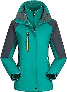 Mochoose Women's Mountain Windproof Waterproof 3 in 1 Fleece Ski Jacket Hooded Rain Coat