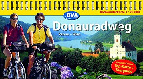 Kompakt-Spiralo BVA Donauradweg Passau-Wien Radwanderkarte 1:75.000