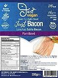 JUST VEGAN LONCHAS ESTILO BACON VEGANO 200g | 100% VEGETALES | Sin carne | Plant Based | Sin Gluten