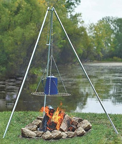 """New Coghlan`s 9340 Adjustable Height Galvanized Camp Fire Cooking Tripod 2757870"""""""