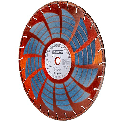 Diamond Extreme Heavy Duty 16-Inch by 1-Inch Metal Cutting Rescue Diamond Blade with Diamond Side Coating for Power Hand-Held Power Saws & Chop Saws (16